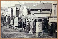 Detail of Main Street, Bodie, circa 1880
