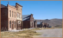 Main Street, Bodie today, in Bodie State Historic Park